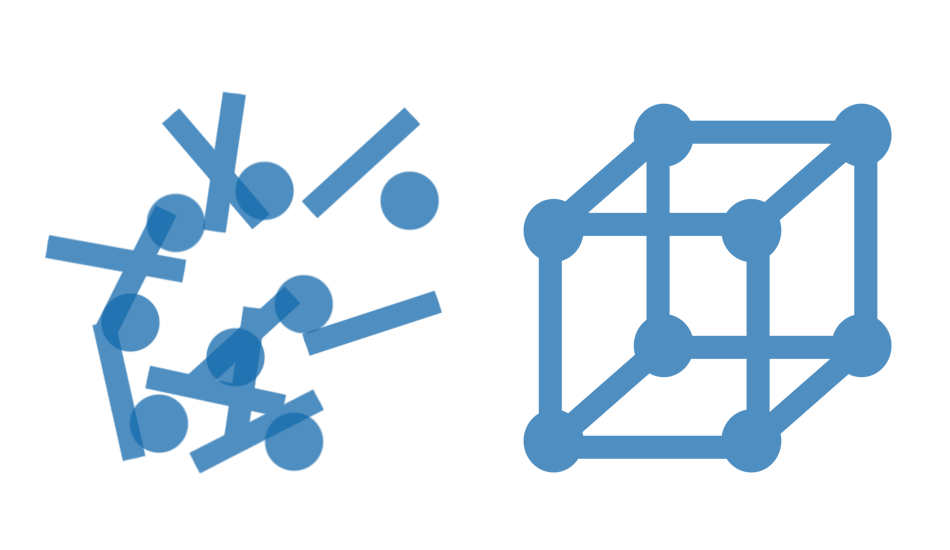 unstructured vs. structured data is like a toy in pieces vs. one that's fully assembled